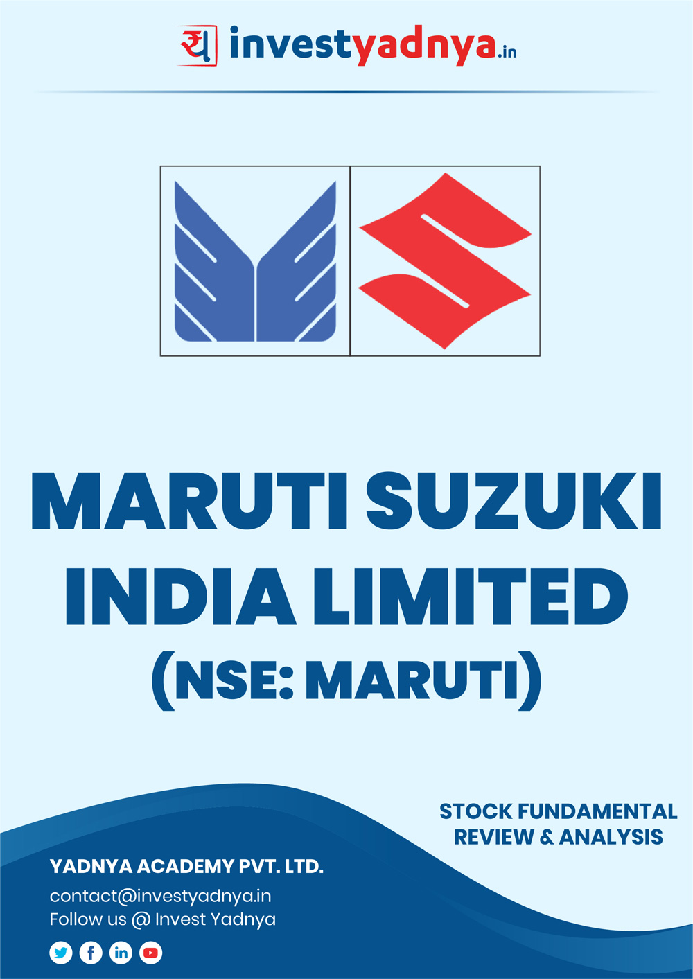 This e-book offers a detailed fundamental analysis of Maruti Suzuki India Ltd, considering both Financial and Equity Research Parameters. It reviews the company, industry, competitors, financials, etc. ✔ Detailed Analysis ✔ Research Reports