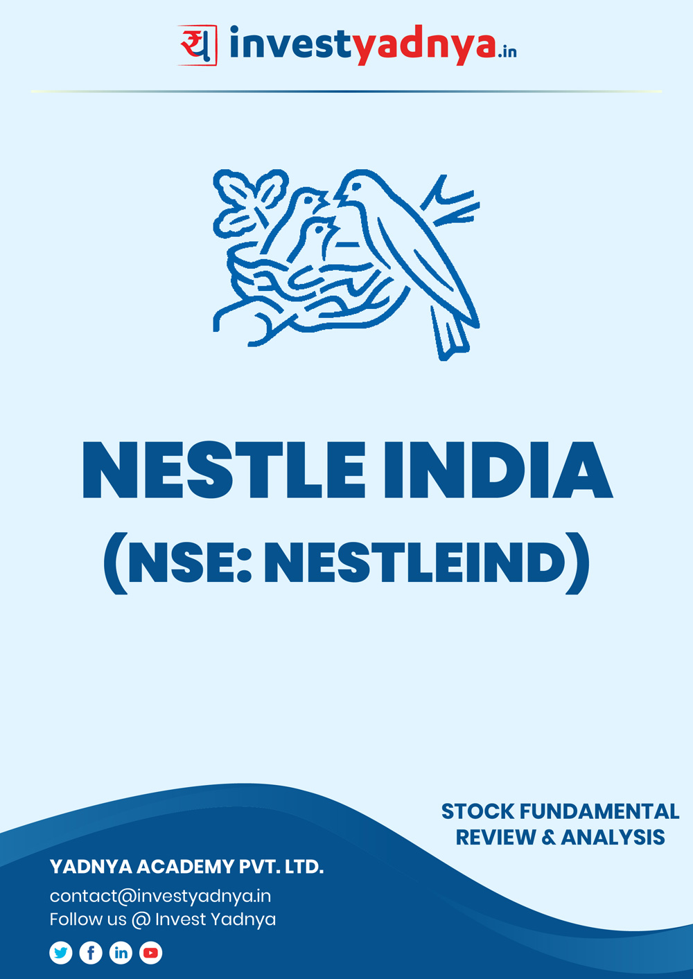 This e-book contains in-depth fundamental analysis of Nestle India considering both Financial and Equity Research Parameters. It reviews the company, industry competitors, shareholding pattern, financials, and annual performance. ✔ Detailed Research ✔ Quality Reports