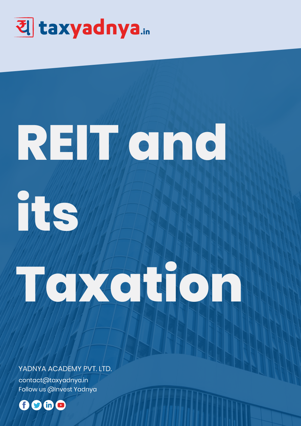 This eBook contains details about REIT (Real Estate Investment Trust). REITs are new concept in India and the first REIT was recently launched in March 2019 which was well received by analysts and investors. This eBook will give you all the details about REITs which an investor should know before investing in this new asset. Special focus is given to explain the Taxation on REIT investment as it is very different from other assets. REIT taxation is explained with multiple examples.