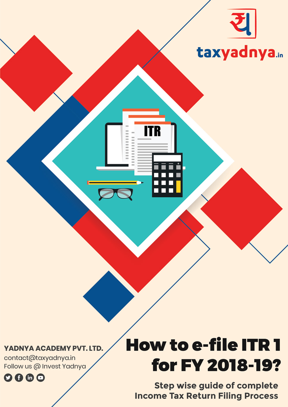 Steps to e-file ITR1 eBook give detail steps on how to file your Income Tax return on your own using ITR1 form. This book contains multiple screenshot of Income Tax efiling portal through which you can file your ITR on your own for Free. Book also contains steps on how to pay your pending Income Tax through Income Tax website. This ebook is based on FY 2018-19 or AY 2019-20 ITR1 form.