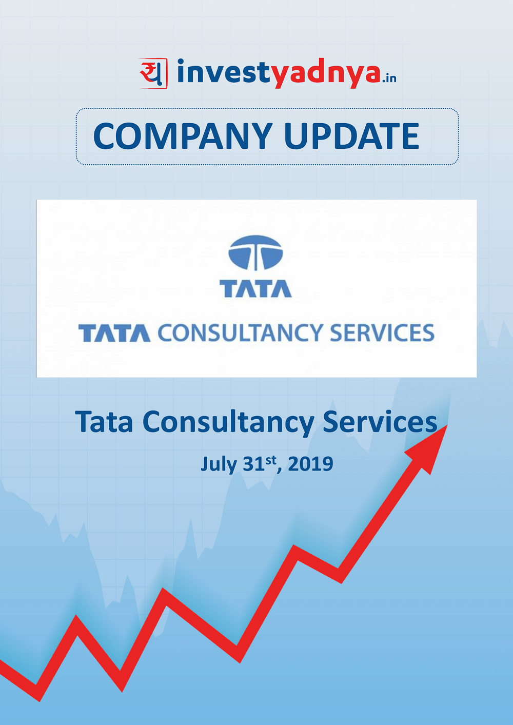 Tata Consultancy Services Ltd. is a Short and sweet analysis of the company which contains brief overview about the company both from qualitative and financial perspective. Date of update -31st July, 2019.