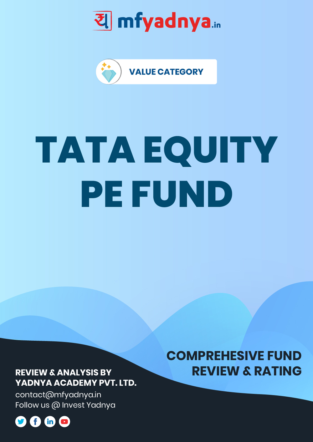 Value or Contra Category Review - TATA Equity PE Fund. Most Comprehensive and detailed MF review based on Yadnya's proprietary methodology of Green, Yellow & Red Star. Detailed Analysis & Review based on Sept 30th, 2019 data.