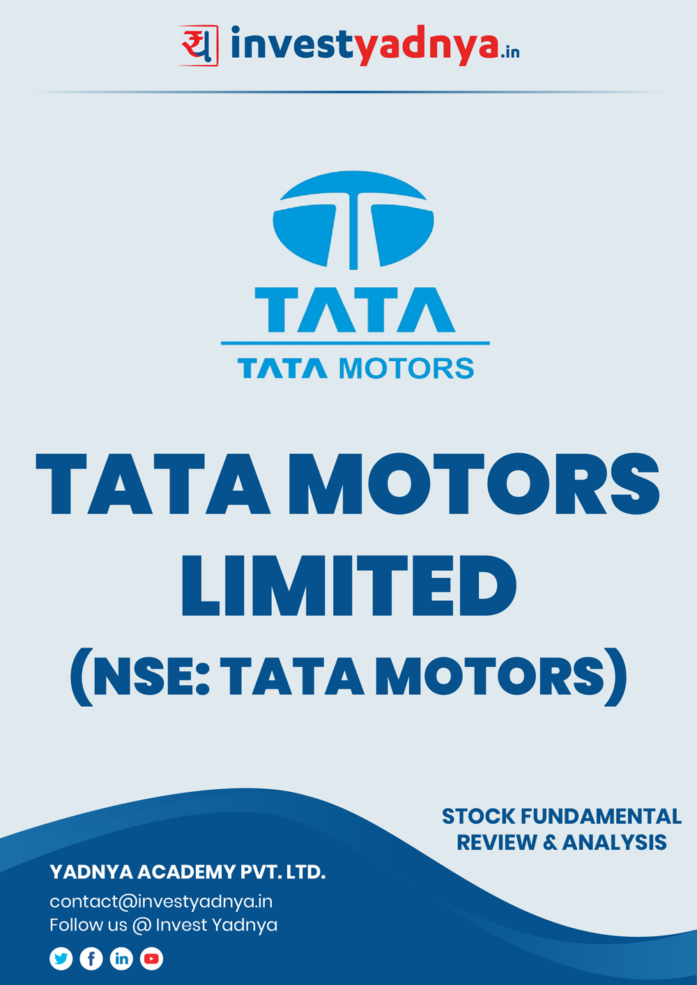 This e-book contains in-depth fundamental analysis of Tata Motors considering both Financial and Equity Research Parameters. It reviews the company, industry competitors, shareholding pattern, financials, and annual performance. ✔ Detailed Research ✔ Quality Reports