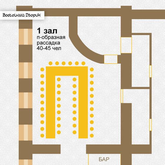 Ресторан, Банкетный зал на 60 персон в ЦАО, м. Комсомольская, м. Красные ворота от 3000 руб. на человека