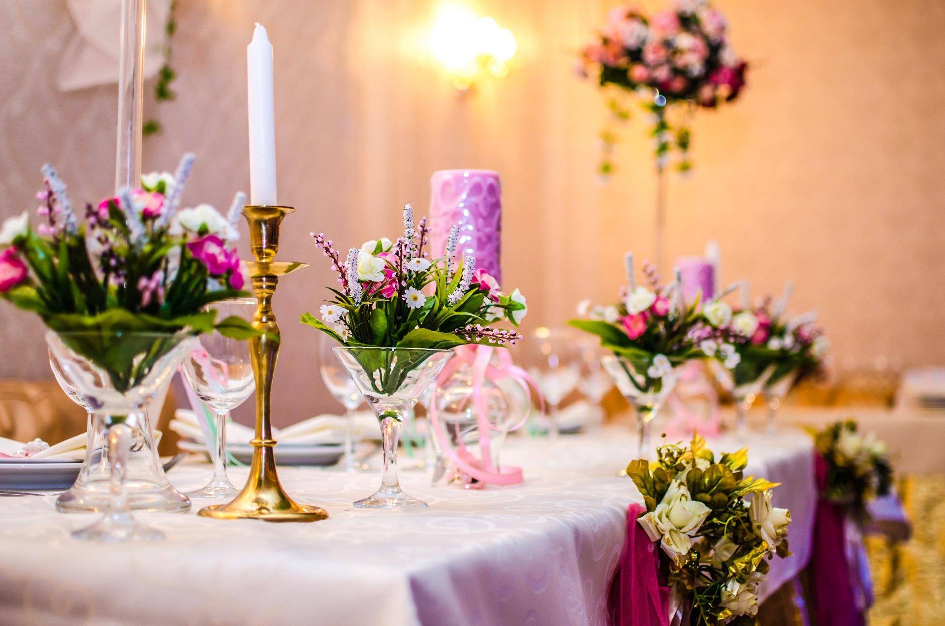оформление свадебого банкета