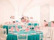Свадебный банкет в мятном цвете
