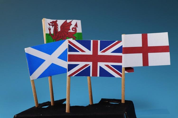 イギリスを構成する国の国旗