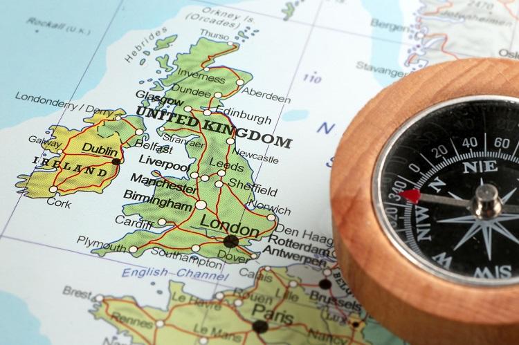 アイルランドの地図