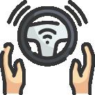 pictogramme représentant le volant d'un véhicule