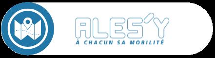 """logo """"ales""""y à chacun sa mobilité"""" fond bleu"""
