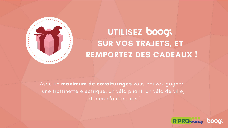 Remportez des cadeaux en covoiturant avec Boogi !