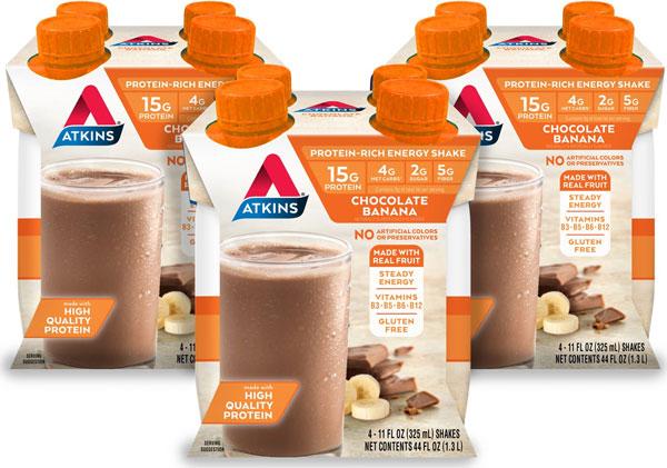 Atkins Chocolate Banana Energy Shake