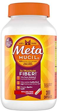 Metamucil Multi-Health Psyllium Fiber Supplement Capsules