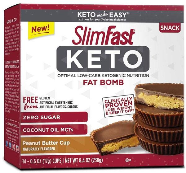 SlimFast Keto Fat Bomb Peanut Butter Cup