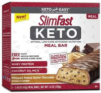 SlimFast Keto Meal Replacement Bar Whipped Peanut Butter Chocolate