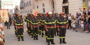 L'Aquila, i Vigili del Fuoco presenti alla Perdonanza Celestiniana