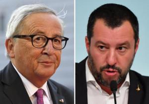 Salvini all'attacco: 'Cercate su Google Juncker barcollante'