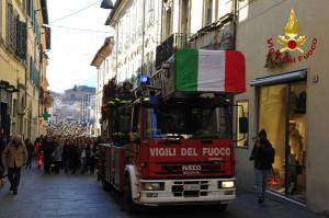 A Rieti l'ultimo saluto al Vigile del Fuoco Stefano Colasanti