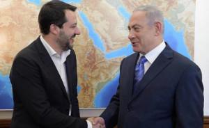 Il ministro Salvini a Gerusalemme, incontro con il premier Netanyahu