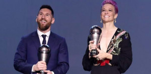 Lionel Messi e Megan Rapinoe trionfano ai 'The Best FIFA Football Awards 2019'