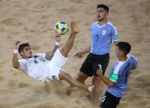 FIFA Beach Soccer World Cup: l'Italia sbatte sui pali, l'Uruguay vince 4-3