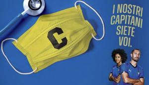 Gli Azzurri e le Azzurre ringraziano il personale ospedaliero: 'Facciamo il tifo per voi'