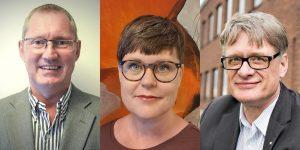 Karin Ahnqvist, Hållbarhetschef Boliden, Mikael Nensén, VD AIT och Göran Carlsson, teknisk direktör på SSAB