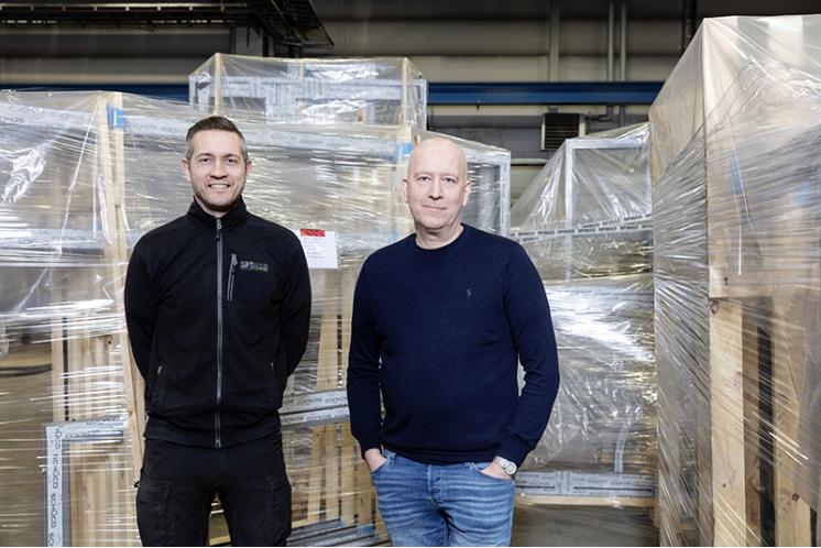 Rickard Bergström, Produktion/planering och Ulf Isaksson, vd Spinab. Foto: Tomas Bergman