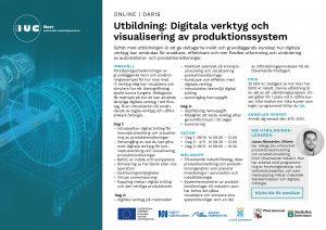 Inbjudan utbildning Digitala verktyg och visualisering