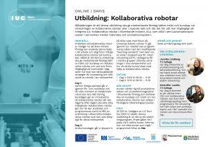 Inbjudan utbildning Kollaborativa robotar IUC Norr