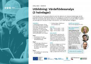 Inbjudan utbildning Värdeflödesanalys IUC Norr