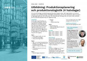 Inbjudan utbildning Produktionsplanering och produktionslogistik
