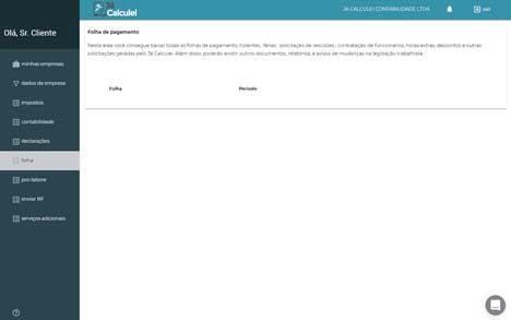 JaCalculei - Plataforma de Contabilidade Online