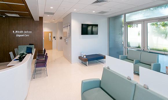Entrance of UHealth Jackson Urgent Care in Doral