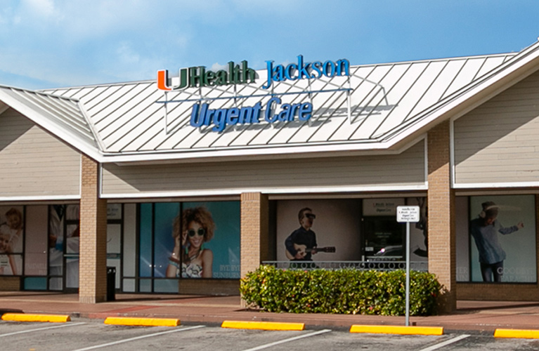Storefront of Jackson Urgent Care in Country Walk
