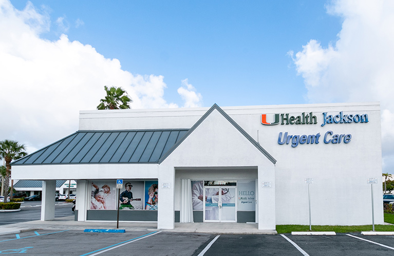 Storefront of Jackson Urgent Care in Cutler Bay