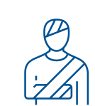 Icon of an person with an injured arm