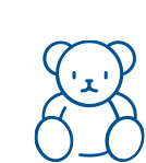 Icon of a blue teddy bear