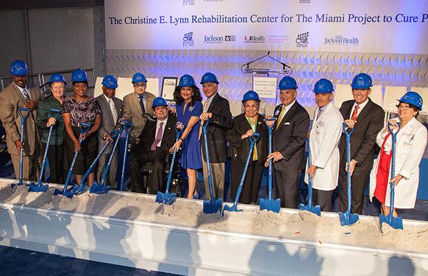 Groundbreaking at the Christine E Lynn Rehabilitation Center