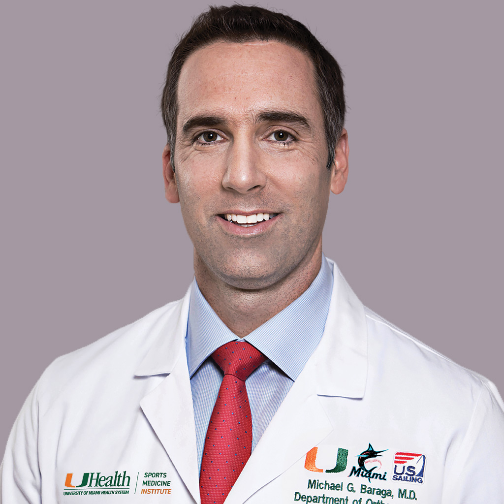 Headshot of Michael G. Baraga, MD, FAOA