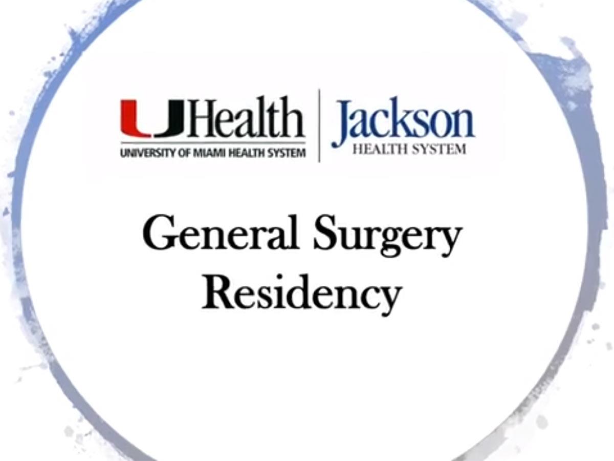 UHealth and Jackson logos, General Surgery Residency