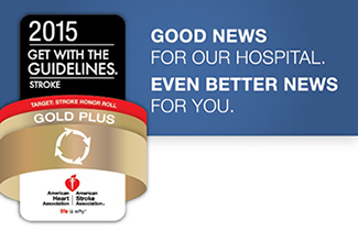 2015 Gold Plus Award - Good news for our hospital. Even better news for you.
