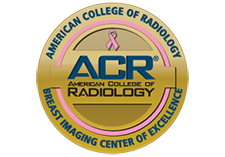 Gold seal, reads American College of Radiology Breast Imaging Center of Excellence