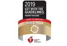 Logo for American Heart Association Gold Plus Award