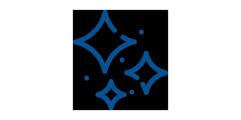 Icon of three rhombus shapes
