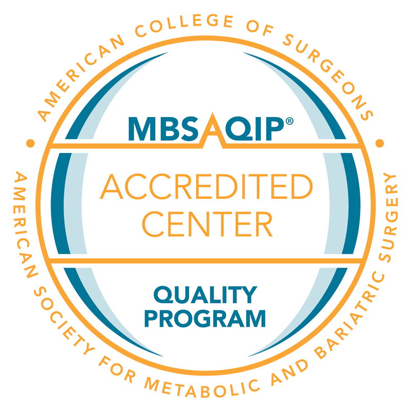 Seal for the MBSAQIP accreditation.