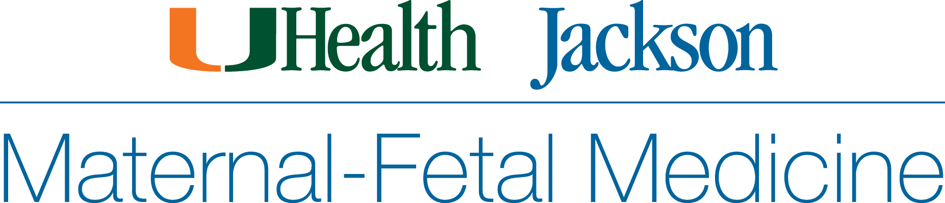 Logo for UHealth Jackson Maternal-Fetal Medicine services.