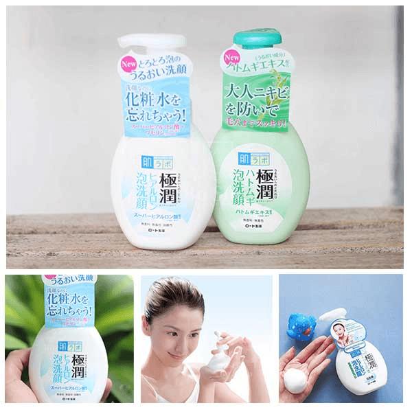 Sữa rửa mặt tạo bọt Hadalabo 160ml