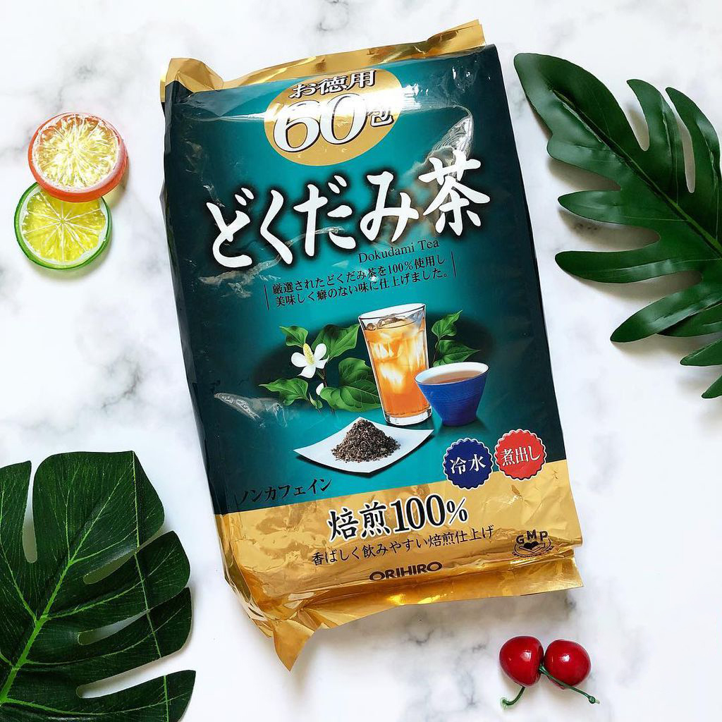 Trà diếp cá hỗ trợ thải độc cơ thể Dokudami Orihiro 60 gói