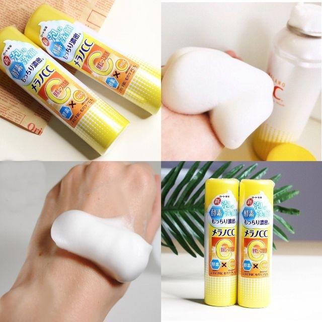 Sữa rửa mặt trắng da, mờ thâm Rohto CC Melano Face Wash 150g